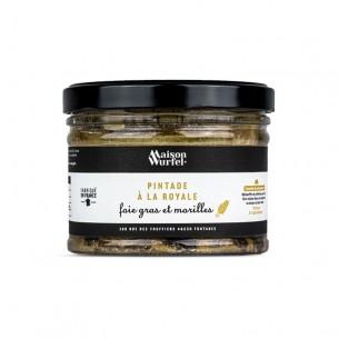 Pintade à la royale foie gras et morilles